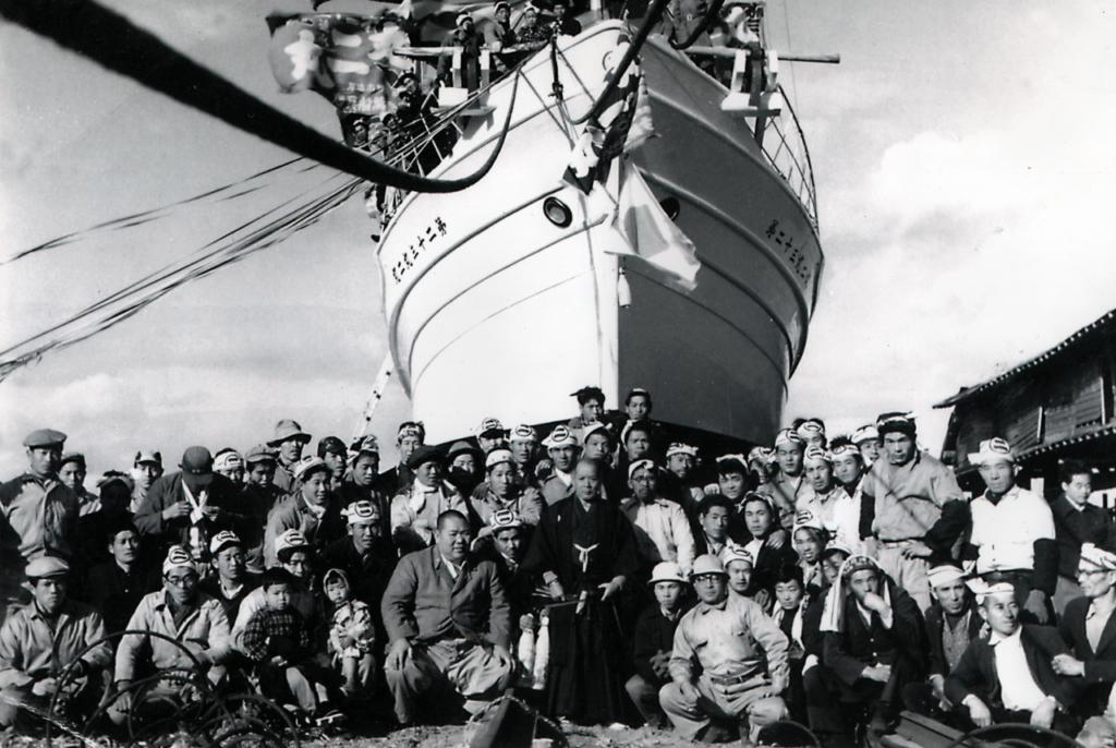 進水式 初代由松と仲間たち