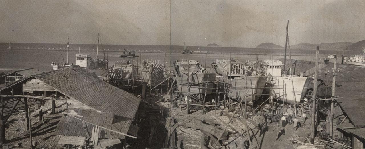 昭和34年 岡下造船所 作業場